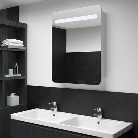 Hommoo LED Bathroom Mirror Cabinet 60x11x80 cm