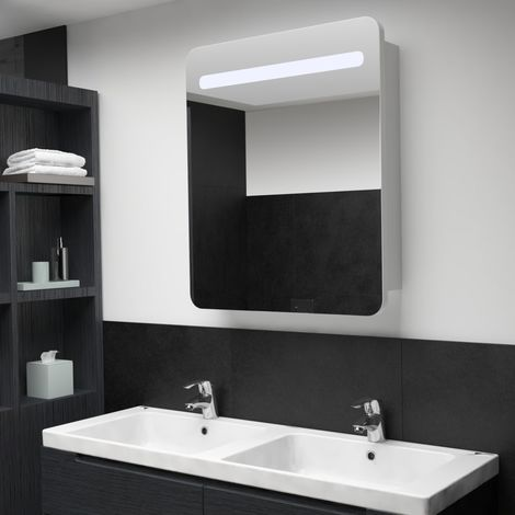 Hommoo LED Bathroom Mirror Cabinet 68x11x80 cm