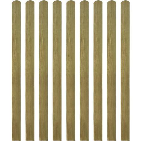 Hommoo Listones de valla de jardín 20 uds madera impregnada 140 cm