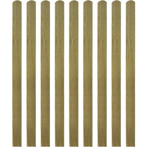 Hommoo Listones de valla de jardín 30 uds madera impregnada 140 cm