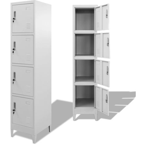 Hommoo Locker Cabinet with 4 Compartments 38x45x180 cm