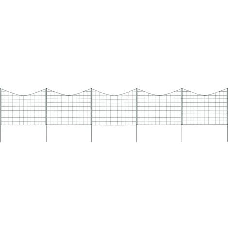 Hommoo Lower Arch Pond Fence Set 77.5x64 cm Green VD35462