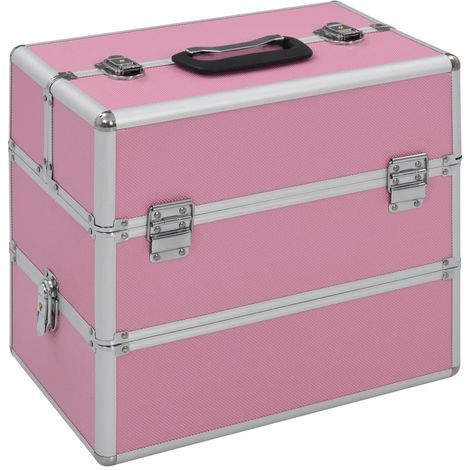 Hommoo Make-up Case 37x24x35 cm Pink Aluminium