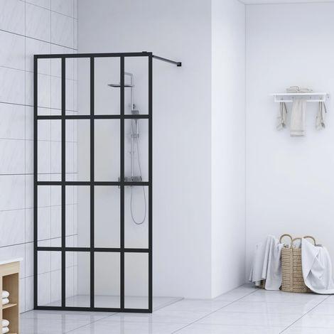 Hommoo Mampara de ducha accesible vidrio templado 100x195 cm