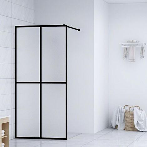 Hommoo Mampara de ducha accesible vidrio templado 118x190 cm