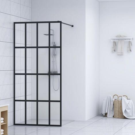 Hommoo Mampara de ducha accesible vidrio templado 90x195 cm