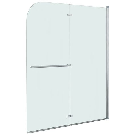 Hommoo Mampara de ducha plegable 2 paneles ESG 120x140 cm