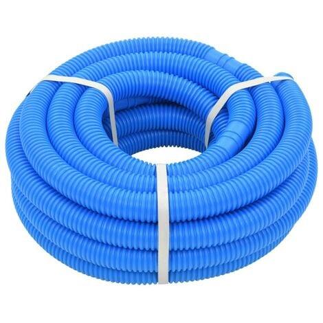 Hommoo Manguera de piscina azul 38 mm 12 m