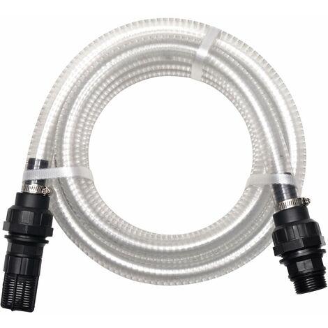 Hommoo Manguera de succión con conectores 10 m 22 mm blanca HAXD04928