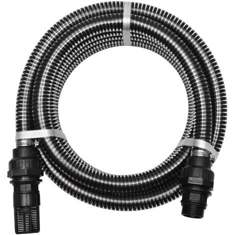 Hommoo Manguera de succión con conectores 10 m 22 mm negra