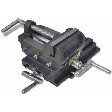 Hommoo Manually Operated Cross Slide Drill Press Vice 78 mm QAH03911
