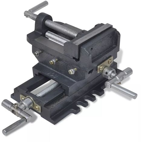Hommoo Manually Operated Cross Slide Drill Press Vice 78 mm VD03911