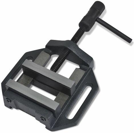 Hommoo Manually Operated Drill Press Vice 90 mm QAH03910
