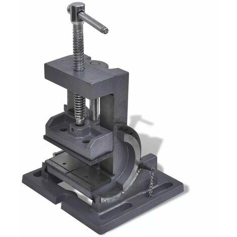 Hommoo Manually Operated Tilting Drill Press Vice 110 mm QAH03912