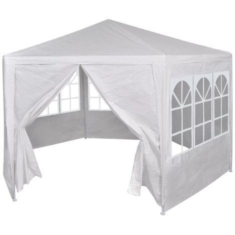 Hommoo Marquee with 6 Side Walls White 2x2 m VD26966