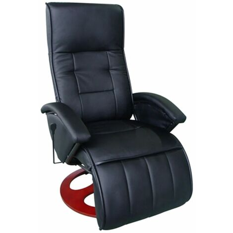 Hommoo Massage Chair Black Faux Leather VD33029