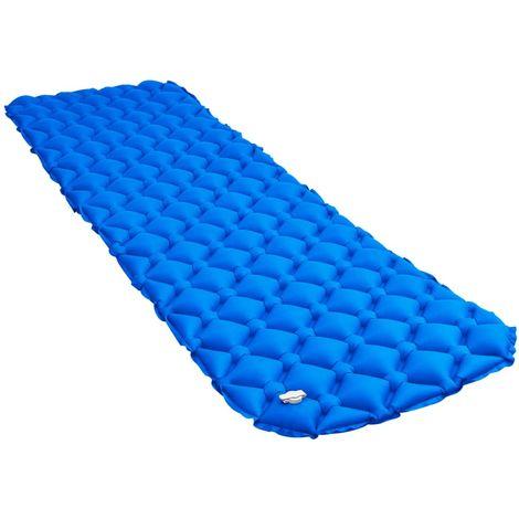 Hommoo Matelas gonflable 58x190 cm Bleu