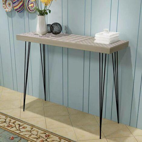 Hommoo Mesa consola gris 90x30x71,5 cm