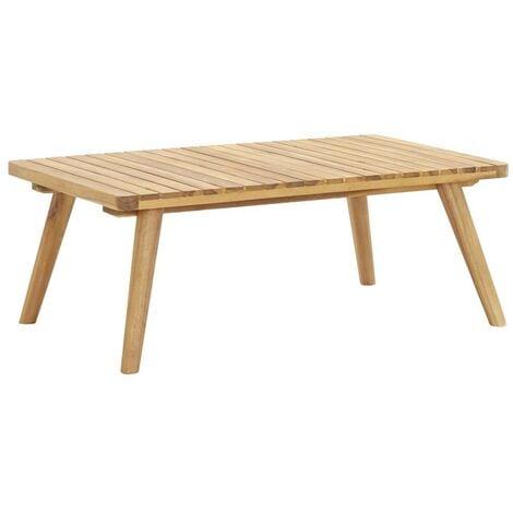 Hommoo Mesa de centro de jardín madera maciza de acacia 90x55x35 cm