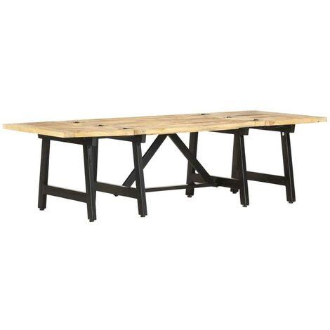Hommoo Mesa de centro extensible de madera maciza de mango 160x70x45cm