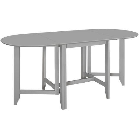 Hommoo Mesa de comedor extensible gris (75-180)x75x74 cm MDF