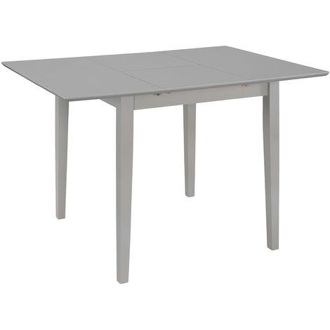 Hommoo Mesa de comedor extensible gris (80-120)x80x74 cm MDF