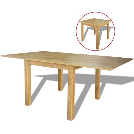 Hommoo Mesa extensible de roble 170x85x75 cm