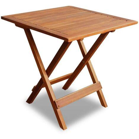 Hommoo Mesa para terraza bistró madera maciza de acacia 46x46x47 cm