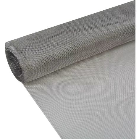 Hommoo Mesh Screen Stainless Steel 100x1000 cm Silver