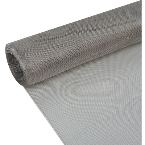 Hommoo Mesh Screen Stainless Steel 100x500 cm Silver