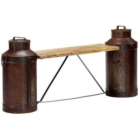 Hommoo Milk Bottle Bench 150x33x64 cm Solid Mango Wood