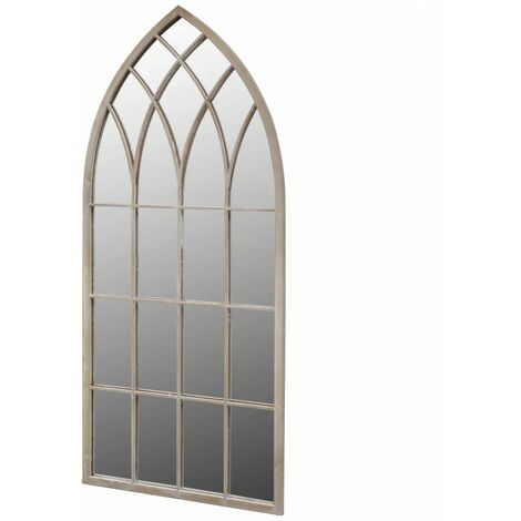 Hommoo Miroir de jardin d'arche gotique 115x50 cm Intérieur/extérieur HDV26411