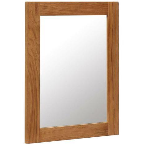 Hommoo Mirror 40x50 cm Solid Oak Wood