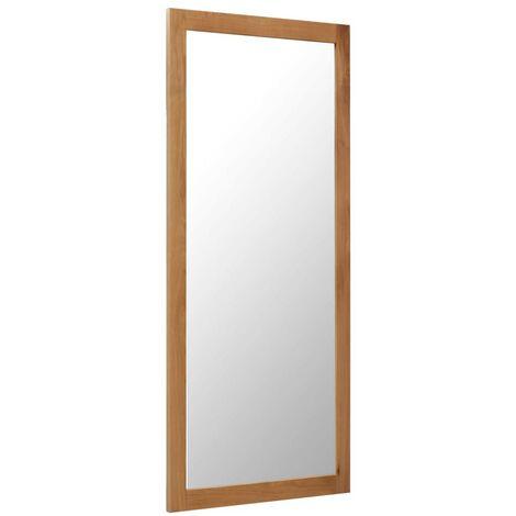 Hommoo Mirror 50x140 cm Solid Oak Wood