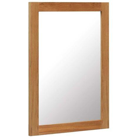 Hommoo Mirror 50x70 cm Solid Oak Wood