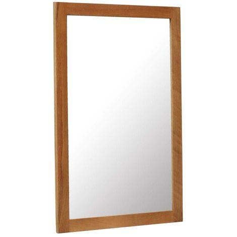 Hommoo Mirror 60x90 cm Solid Oak Wood