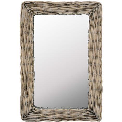 Hommoo Mirror Wicker Brown 40x60 cm QAH12764