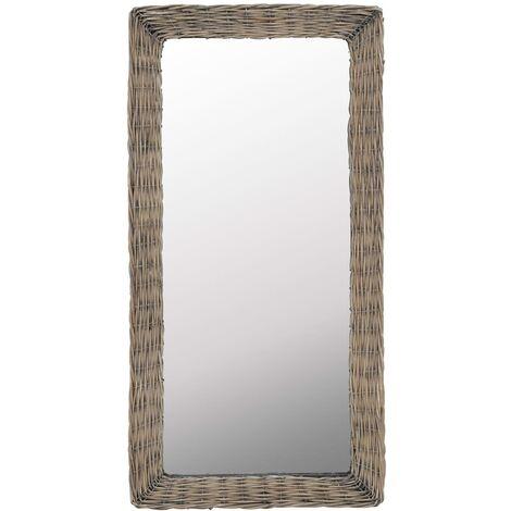Hommoo Mirror Wicker Brown 50x100 cm QAH12766