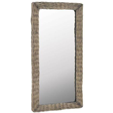 Hommoo Mirror Wicker Brown 50x100 cm VD12766