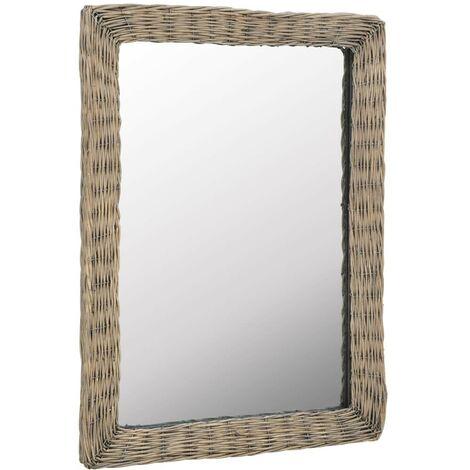 Hommoo Mirror Wicker Brown 60x80 cm VD12765