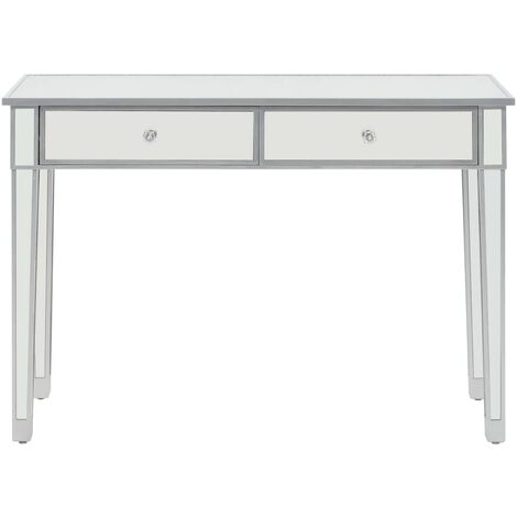 Hommoo Mirrored Console Table MDF and Glass 106.5x38x76.5 cm QAH12585