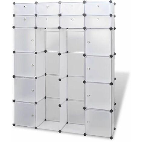 Hommoo Modular Cabinet 18 Compartments White 37x146x180.5 cm QAH08233