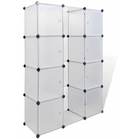 Hommoo Modular Cabinet with 9 Compartments 37x115x150 cm White QAH08229
