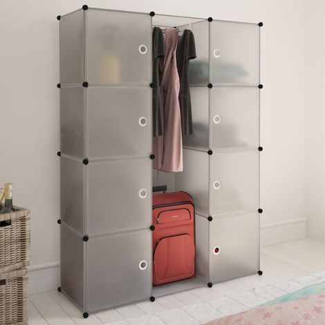 Hommoo Modular Cabinet with 9 Compartments 37x115x150 cm White VD08229