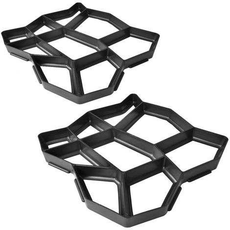 Hommoo Moldes de pavimento para el jardín 2 unidades 42x42x4 cm