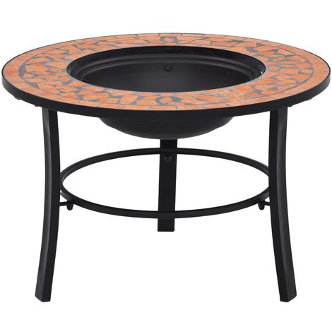 Hommoo Mosaic Fire Pit Terracotta 68cm Ceramic