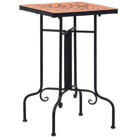 Hommoo Mosaic Side Table Terracotta Ceramic