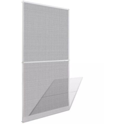 Hommoo Mosquitera con bisagras para puertas blanca 100x215 cm