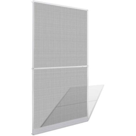 Hommoo Mosquitera con bisagras para puertas blanca 120x240 cm