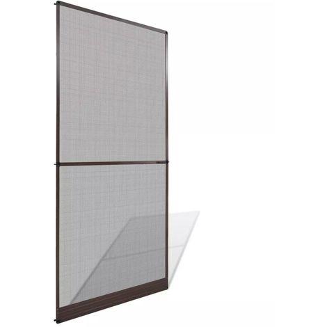 Hommoo Mosquitera con bisagras para puertas marrón 100x215 cm